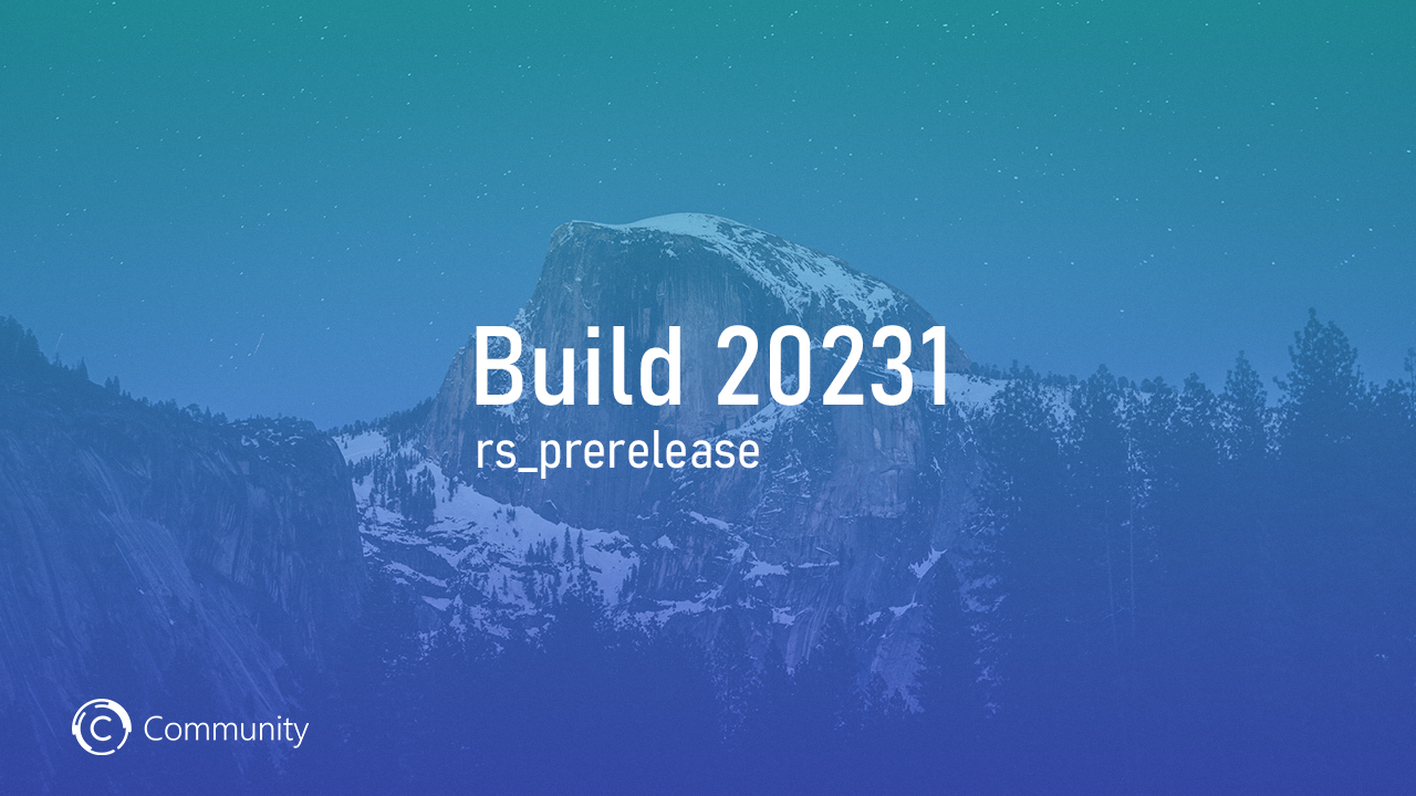 Анонс Windows 10 Insider Preview Build 20231 (канал Dev)
